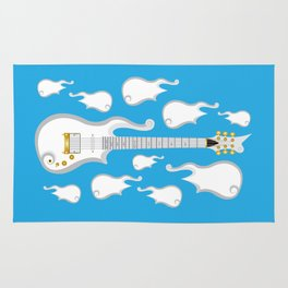 The Emoji-fication of His Purple Majesty: Cloud Guitar Rug