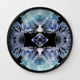 Turquoise Mandala-Throat Chakra Wall Clock