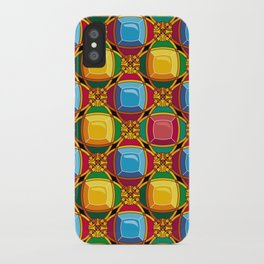 Pattern with diamonds iPhone Case