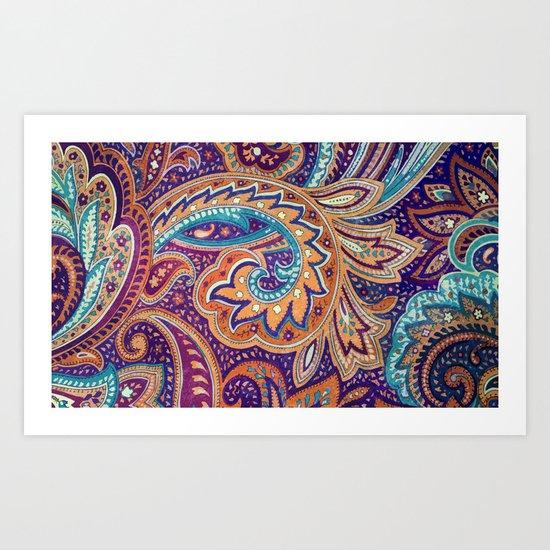 Summer paisley Art Print