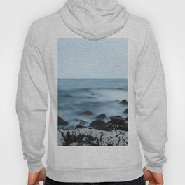 Rocky shore with misty water Hoody