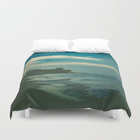 Good Bye Blue Sky Duvet Cover