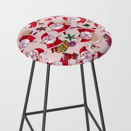 Santa Gift Pattern Bar Stool