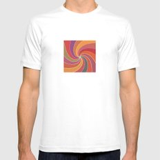 Flower Show Colors MEDIUM White Mens Fitted Tee