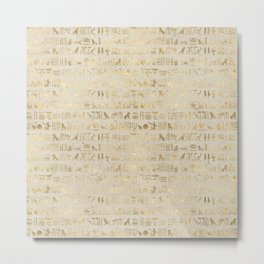 Hieroglyphs Papyrus Metal Print