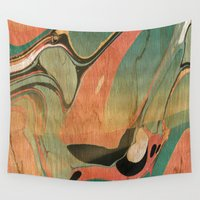 utah Wall Tapestries featuring Abstract Painting ; Utah #2 by bialy kot art