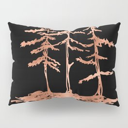 THE THREE SISTERS Trees Rose Gold Pillow Sham