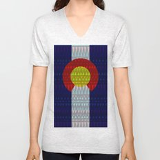 Colorado Flag/Geometric Unisex V-Neck