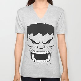 Hulk Black & White Trendy Art Unisex V-Neck