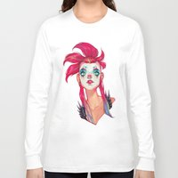clown Long Sleeve T-shirts featuring Clown by trevacristina