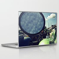 volkswagen Laptop & iPad Skins featuring volkswagen turtle car by gzm_guvenc