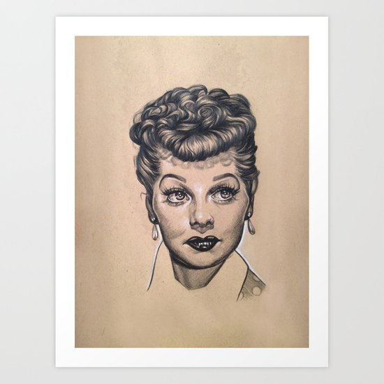 Lucille Ball Graphite Drawing Art Print