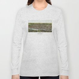 Bird's Eye View of Manayunk Philadelphia, Pennsylvania (1907) Long Sleeve T-shirt