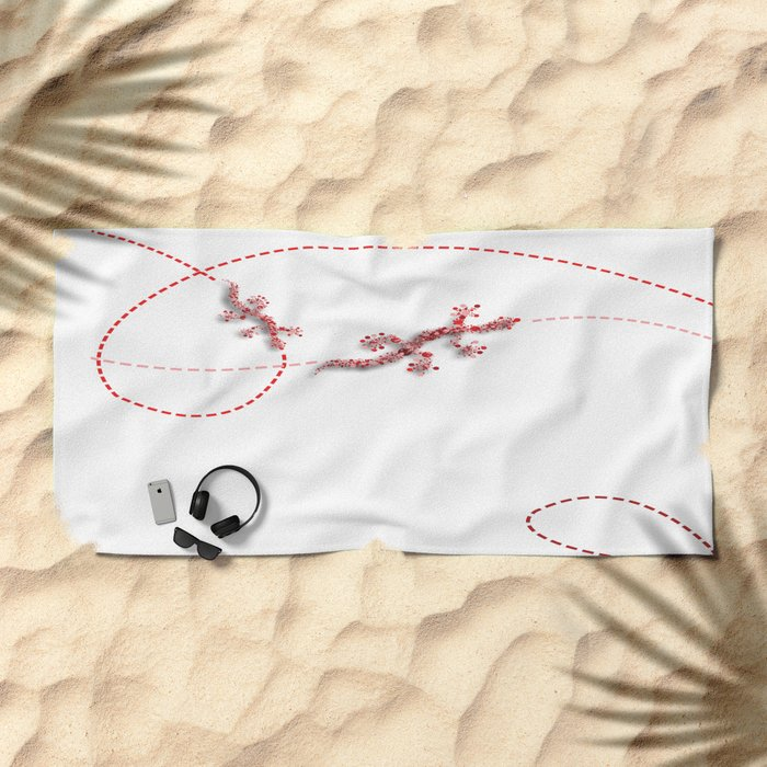 Running Lizard Beach Towel