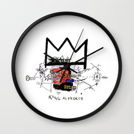 Jean-Michel Basquiat - King Alphonso 1983 Wall Clock