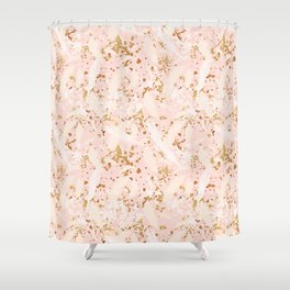 Feather peacock peach gold #6 Shower Curtain