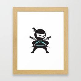 Ninja (with heart) Framed Art Print