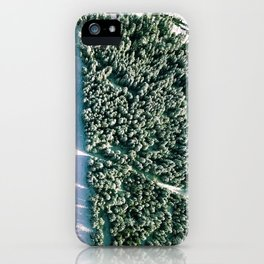 Trees below iPhone Case