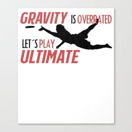 Ultimate T-Shirt I Gift Disc Sport Jersey   Canvas Print