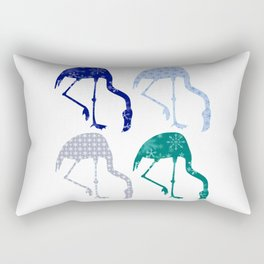 Flamingo Snowflakes Tropical Christmas Rectangular Pillow