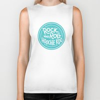 rock and roll Biker Tanks featuring Rock & Roll Hoochie Koo by Josh LaFayette