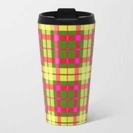 Yellow and red Tartan (Scotch) Pattern Travel Mug
