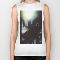 palm trees Biker Tanks featuring Palm Trees by IanPlath