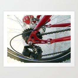 Road bike universal close-up in detail Art Print