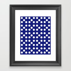 Dots - Blue / White Framed Art Print