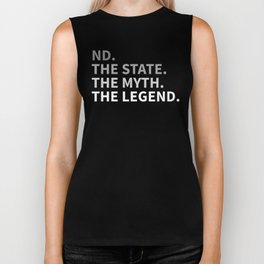 North Dakota The State The Myth The Legend Biker Tank