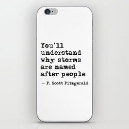 You'll understand why storms are named after people iPhone Skin