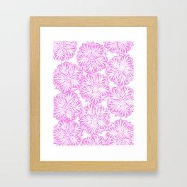 Hand Carved Starburst Pink Framed Art Print