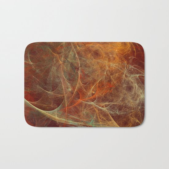 Abstract texture in autumn tones Bath Mat