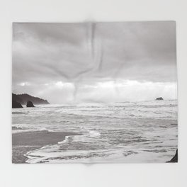 Foggy Coast Throw Blanket
