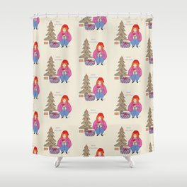 Merry Christmas From Us Shower Curtain