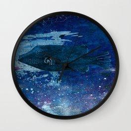 Cosmic fish, ocean, sea, under the water Wall Clock