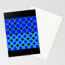 Retro Blue Mod Circles Stationery Cards