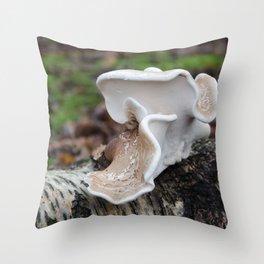 Birch Polypore Throw Pillow