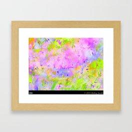I Hear You Knocking Pink Framed Art Print