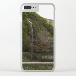 A small waterfall in the mountains #2 Clear iPhone Case