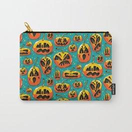 Jack o Lanterns Jackolantern jack o lantern pumpkin pattern spooky creepy fun Carry-All Pouch