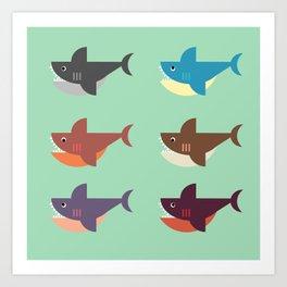 Snarky Sharky Art Print