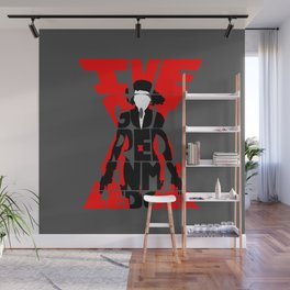 Black widow red Wall Mural