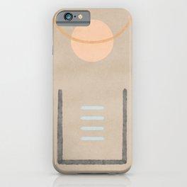Space in between - Simple minimal earth tones iPhone Case