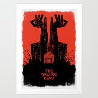 dead Art Prints featuring The Walking Dead. by David