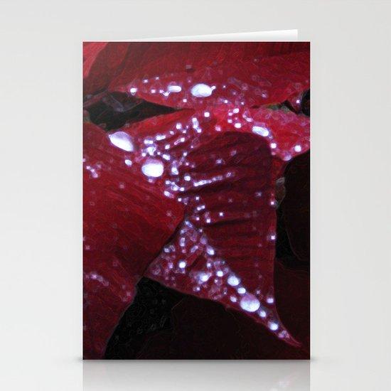 Diamonds on red velvet Stationery Cards