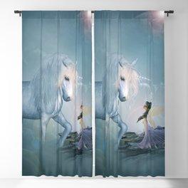 Wonderful unicorn with fairy Blackout Curtain