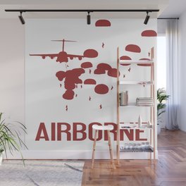 Airborne Jump (Airborne Red) Wall Mural