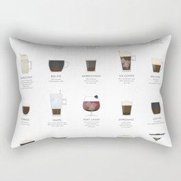 Coffee Chart - Mixed Drinks Rectangular Pillow