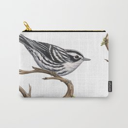 Black-and-White Warbler (Mniotilta varia) Carry-All Pouch